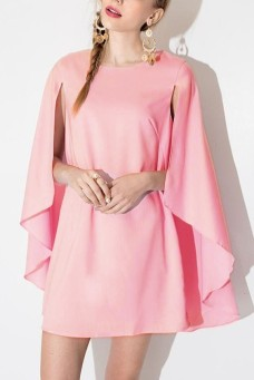 GENUINE PEOPLE - PINK CHIFFON CAPE DRESS - $ 26.00 USD